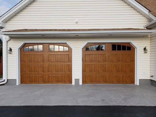 Carriage Faux Wood Garage Door