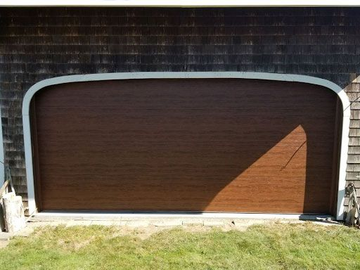 Modern Faux Wood Garage Door